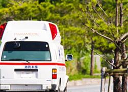交通事故治療施術中の写真
